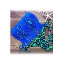 Maillot de bain femme à franges avec culotte rétro vert